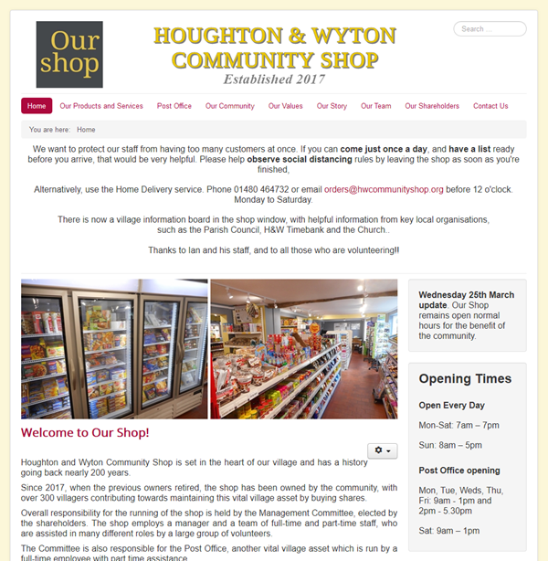 Houghton & Wyton Community Shop